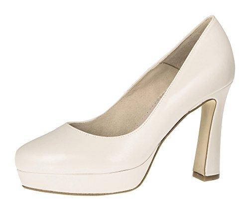 Fiarucci Brautschuhe Mirjam - Perle Creme Leder Foam - Plateau High Heels Größe 38 EU 5 UK Damen