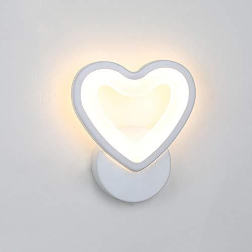 LED acryl wandlamp kinderkamer woonkamer bedlampje slaapkamer wandlamp kunst creatief gang wandschilderij decoratie - hart_warm_wit_ (2700-3500K)
