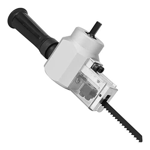 LEILEI Stlei Store - Adaptador inalámbrico para sierra de vaivén para taladro eléctrico, accesorio multifunción para taladro de taladro de metal grueso (color: blanco)