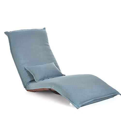 APcjerp Silla Silla Plegable sofá Perezoso Plegable reclinable Sofá Creativo Balcón Mirador Tumbona (Color: Marrón) Hslywan (Color : Blue)