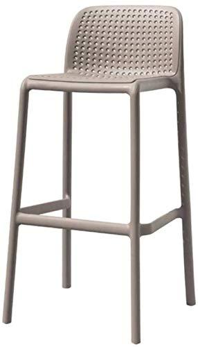 JYV Taburete Bar Taburete Cocina Pubre Desayuno Moderno Alto Sillas Backrest Footrest Home Counter Taburete Taburete Muebles/Gris Plástico