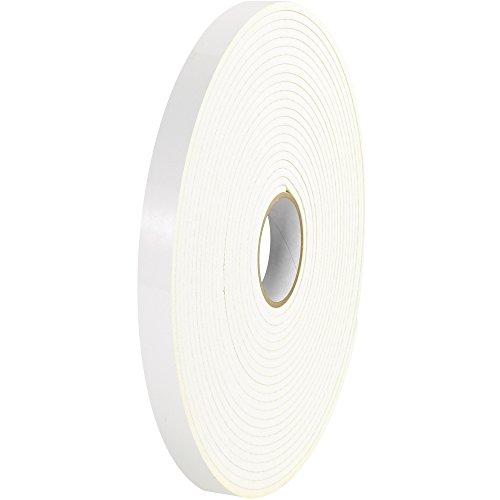 Tape Logic t9511162pk Polyethylen Schaumstoff Doppelseitiges Klebeband, 1/20,3cm Dick, 36Yards Länge x 3/10,2cm Breite, weiß (Fall von 2)