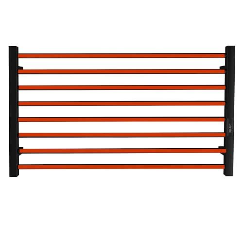 bbee.tech Towel Warmer 8 Bar Electric Heated Towel Rack Wall Mount Plug-in/Hardwired Heated Towel...