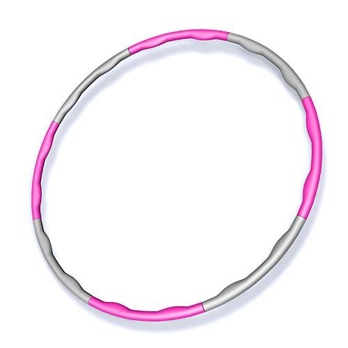 フラフープ 8本組 直径95cm 組み立て式 サイズフリー (ピンク)