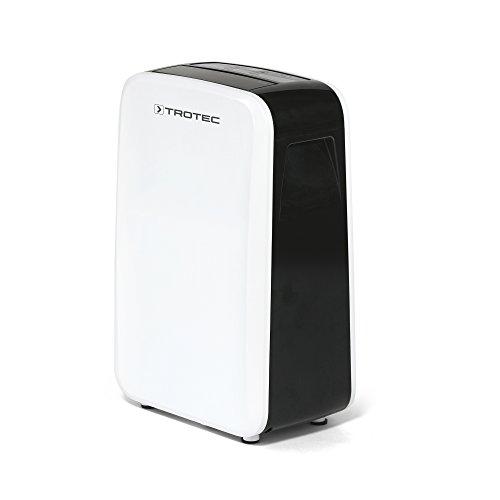 TROTEC Deshumidificador eléctrico TTK 71 E / 24L / Pantalla LED / Desagüe 2L / Silencioso / Portátil / Para Habitaciones de 50m² / 125m³ / Filtro de Aire / 500 W / Auto-Apagado / Temporizador / Higrostato Automático
