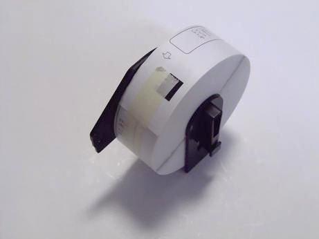 【PC工房】ブラザープリンターラベル感熱ロール紙DK-1215互換ラベル6個入り+専用フレーム1個【ロール交換可能】タイプのセット