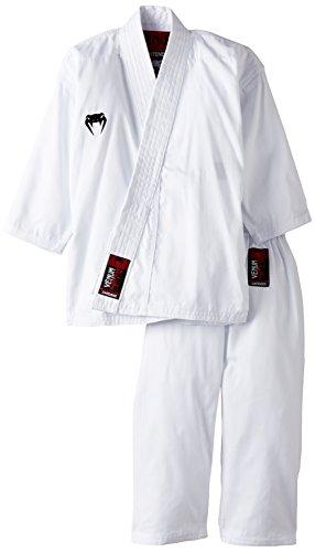 Venum Contender Kids - Traje de Karate para niños, Color Blanco, 150 cm