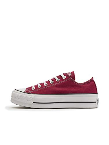 "Converse All Star Damen-Sneakers ""Chuck Taylor"", knöchelfrei, Mehrfarbig - Rhubarb White Schwarz - Größe: 40.5 EU"