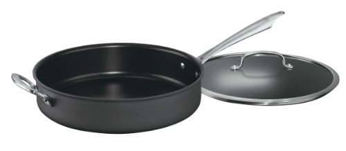 Cuisinart Dishwasher Safe Hard-Anodized 5-Quart Saute Pan with Helper Handle and Cover