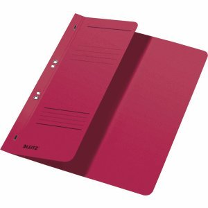 Leitz 50 x Ösenhefter A4 1/2 Vorderdeckel Karton kaufmännische Heftung rot