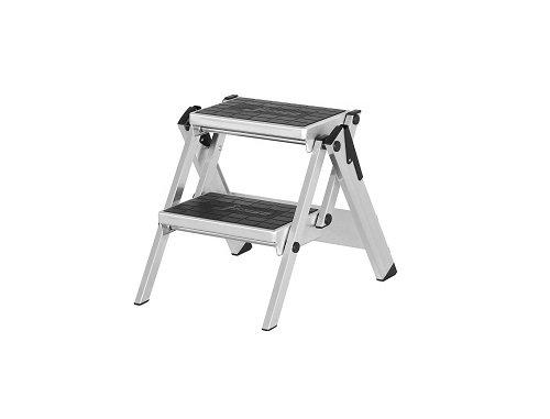 Hymer Sicherheitstreppe ohne Bügel (stabile Bauweise, mit rutschsicherem Gummibelag, Standhöhe 45 cm) 606002