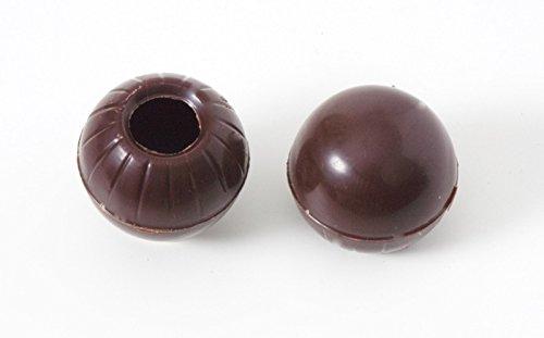 63 Trüffel Hohlkugeln - Praline Hohlkörper edelbitter mit Rezeptvorschlag