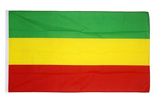 Flaggenfritze Fahne/Flagge Äthiopien ohne Wappen, Rasta + gratis Sticker
