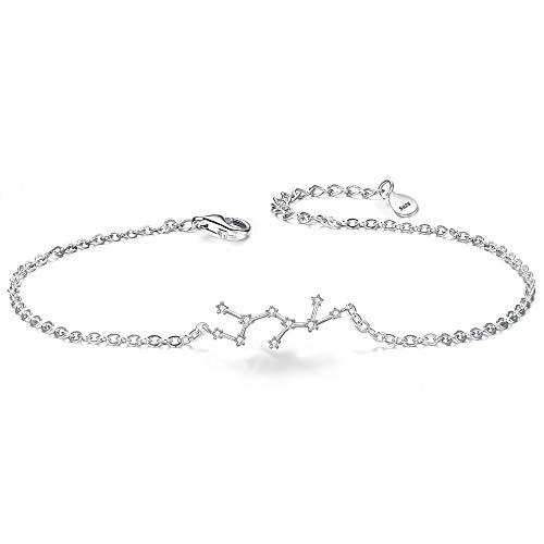 Clearine Armkette Sternzeichen 925 Sterling Silber CZ 12 Sternbild ''Schütze'' Einfach Stil Armband für Damen Mädschen