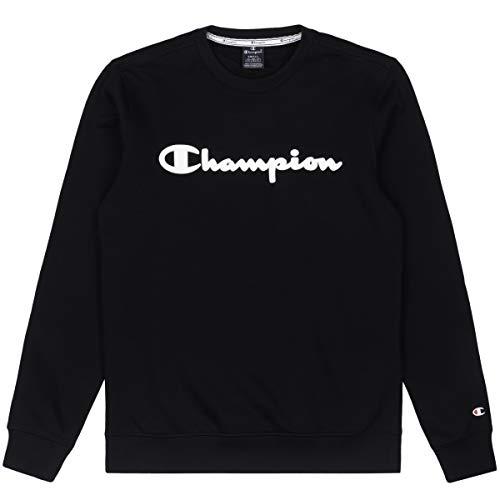 CHAMPION Big Logo Crewneck Pullover Herren,M,schwarz - weiß