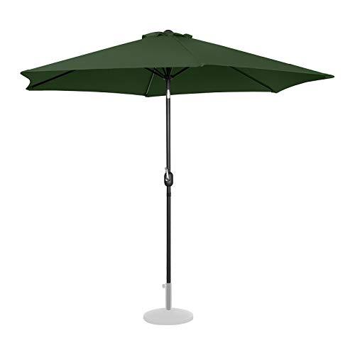 Uniprodo Sombrilla Grande Parasol De Jardín Uni_Umbrella_TR300GR (Pantalla Hexagonal De Ø 300 cm con Densidad De 180 g/m2, Inclinable, Color Verde)