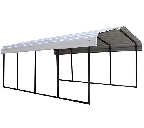 ShelterLogic Stahlcarport Neapel 3,7x6 m Unterstand Autogarage Carport Bausatz Überdachung Stahl Auto robust stabil witterungsbeständig