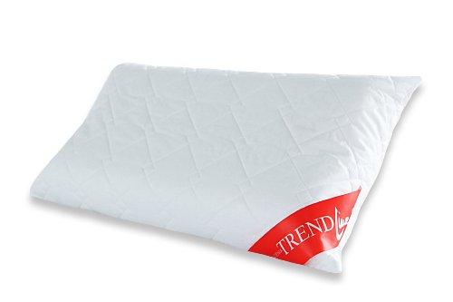 Badenia Bettcomfort Trendline Visco Noblesse neksteunkussen, geschikt voor overtrekken, 40 x 80 cm, wit