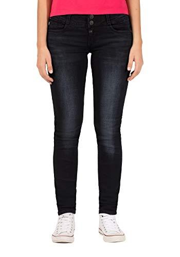 Timezone Damen Enyatz Slim Jeans, Schwarz (Black Diamond Wash 9047), W28/L30