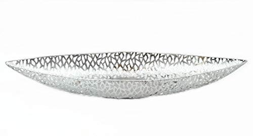 Casablanca - Schale/Dekoschale - Purley - Metall - antik-Silber - 60 x 16 x 7 cm