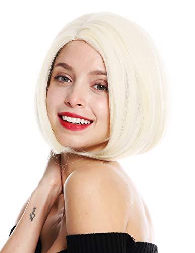 WIG ME UP - VK-54-613 Perruque dame courte carré long carré raie lisse blond platine