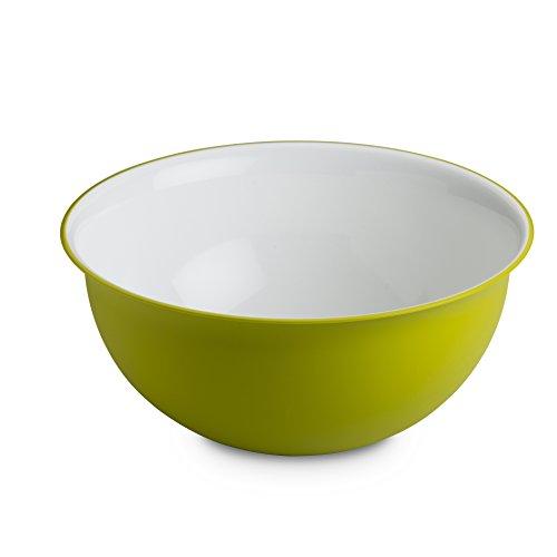 Omada Design insalatiera 3,5 litri, misura 26,5 x 12 cm all'interno bianco e colorato all'esterno, plastica e antibatterico Microban, Linea Sanaliving