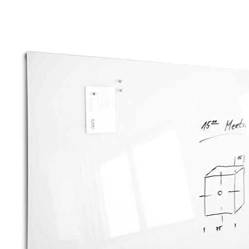 Glas-Whiteboard   Arte   Premiumweiß   Sicherheitsglas   Rahmenlos mit Schwebe-Effekt   Magnethaftend (120 x 180 cm) - 4