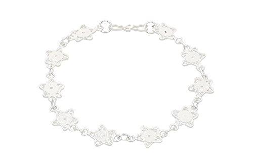 AQILA damesarmband met sterren van 925 sterling zilver filigraan Telkari, TAB13