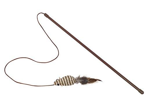 Nobby Angel mit Rasselmaus mit Federn  Stab 45 cm; Maus 7 cm