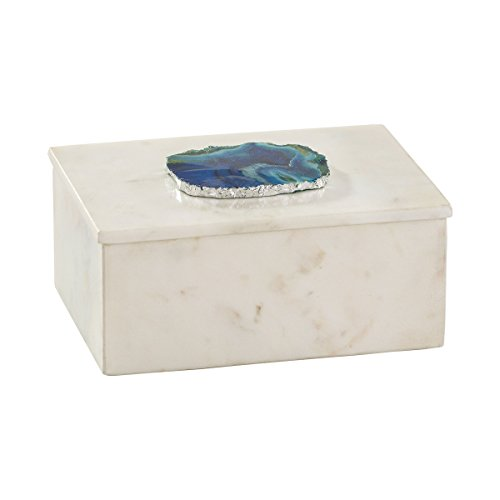 Elk Home Marble and Blue Agate Box