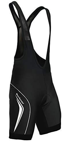BERKNER Radhose Bikehose, Trägerhose Trägerhose Model Derek TR, schwarz - blau Gr. S bis 5XL (schwarz-weiß, 4XL)