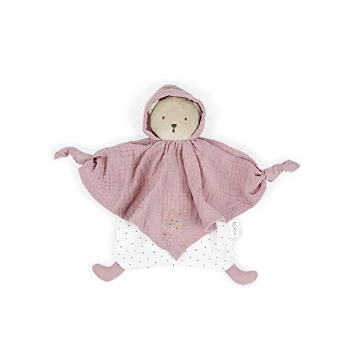 Kaloo - Colección Petit Pas - Doudou para Bebé Oso de Algodón Orgánico 20 cm, Rosa (K969591) (Juguete)