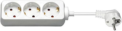 WireThinX Steckerdosenleiste (3X Schutzkontakt mit Kindersicherung) 3,0 m weiß