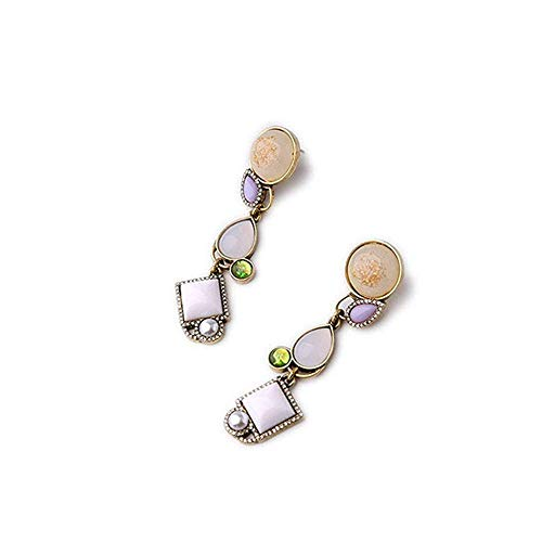 Simplicidad Elegante Inserción de Joyería de Moda Taladro de Geometría de Diamante, Niña Simplicidad Elegante Pendientes de Simplicidad Elegante, ZS