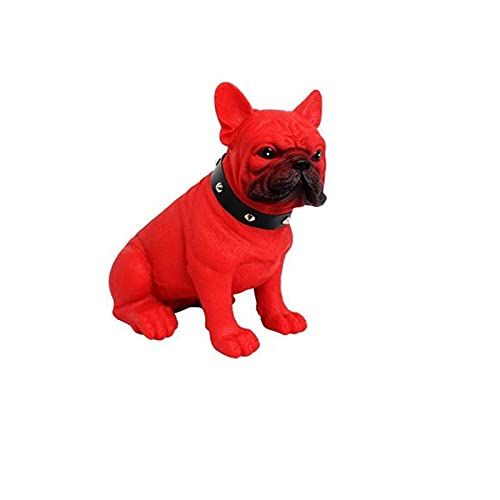Altavoz Bluetooth inalámbrico portátil Bulldog Full Dog Reproductor de música portátil con radio estéreo Caixa De Som Boombox Sistema de sonido (rojo)