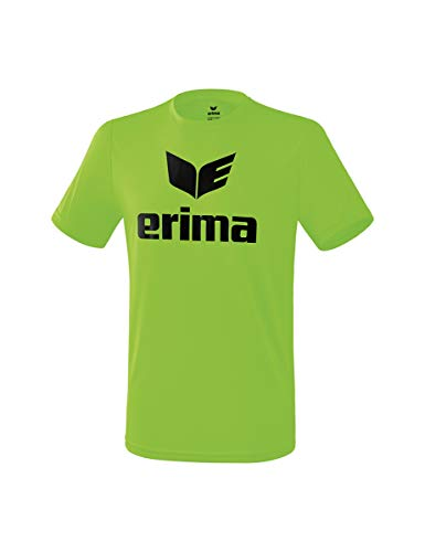Erima T-Shirt Promo Funzionale T-Shirt, Uomo, Green Gecko/Nero, M
