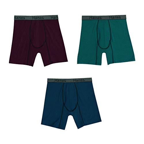Hanes Herren Comfort Flex Fit Ultra Soft Stretch Boxer Brief 3-Pack Slip, Sortiert, X-Large (3er Pack)