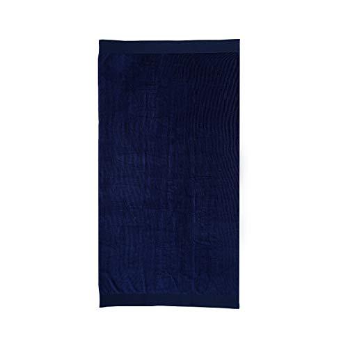 Montse Interiors, S.L. Toalla Playa o Piscina Lisa Azul Marino Algodón Egipcio 100% (Basic Azul, 90x170)