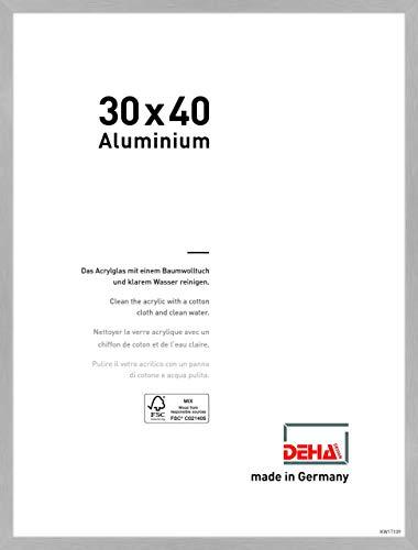 DEHA Aluminium Bilderrahmen Tribeca, 30x40 cm, Struktur Silber Matt