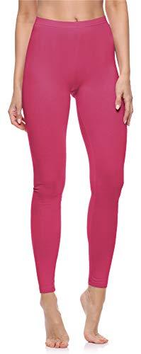 Merry Style Damen Lange Leggings aus Baumwolle MS10-198 (Rosa, M)