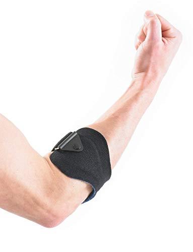 Neo G - Abrazadera para epicondilitis/epitrocleítis (Codo de tenista/golfista), calidad de Grado Médico, Ayuda con distensiones y lesiones por esfuerzo repetitivo, tamaño Universal, Unisex