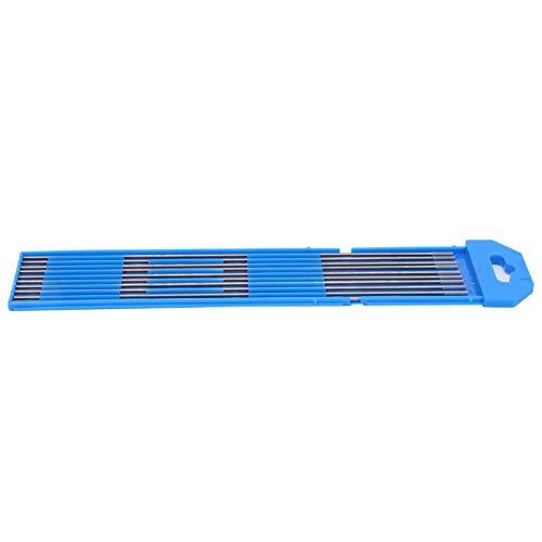 10 Uds varilla de soldadura de tungsteno WC20 varilla de electrodo de tungsteno aguja de arco para soldar aluminio fino acero gris 1,6mm