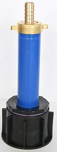 AME90R13_ 97 Tube d'écoulement avec tube plastique DN32, 100 mm AG 1 + laiton Douille avec Ecrou IBC Adaptateur de réservoir d'eau de pluie de Accessoires de conteneurs Mamelon de Bidon