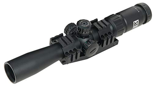 NIKAVI 2-7×32 Rifle Scope, Tactical Rifle Scope, Crosshair Reticle with Free Mounts for Quick Aiming and Shooting