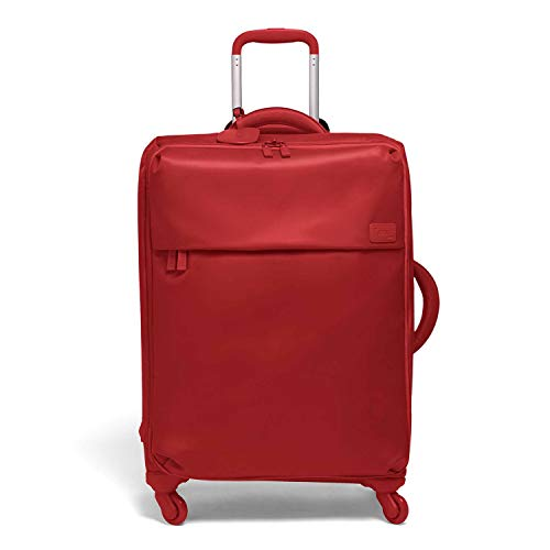 Lipault - Original Plume Spinner 72/26 Luggage - Large Suitcase Rolling Bag for Women - Cherry Red