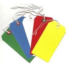 250 Large Reinforced Green Strung Tags Luggage Labels 120 x 60mm