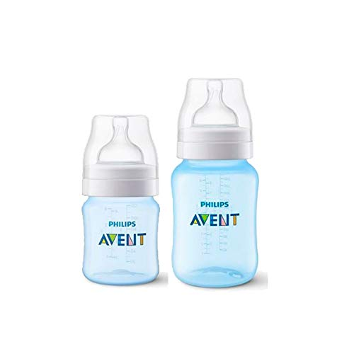 Kit Avent Classic+ 2 Mamadeiras 125ml e 260ml Azul Philips Avent