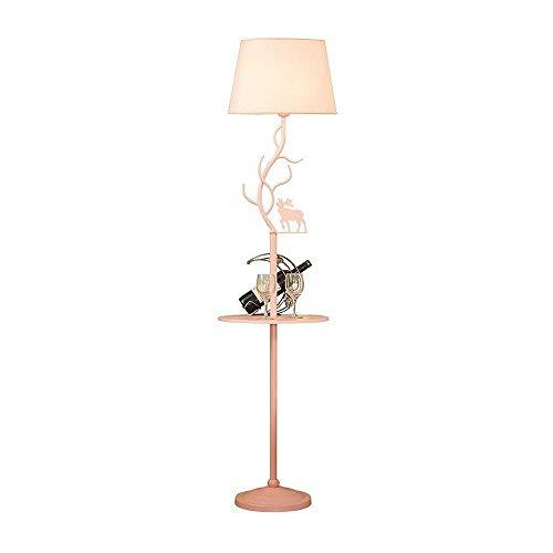 GWXSST Estilo nórdico lámpara de pie salón sofá dormitorio estudio lectura simple moderno creativo macaron vertical lámpara