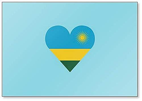 Kühlschrankmagnet Ruanda Flagge in Herzform