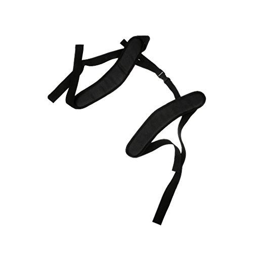MagiDeal Réglable Sangles d'épaule Etanche Bretelles Antidérapantes Rembourrées en PVC Laminé Rechange pour Sac à Dos -125cmx38mm